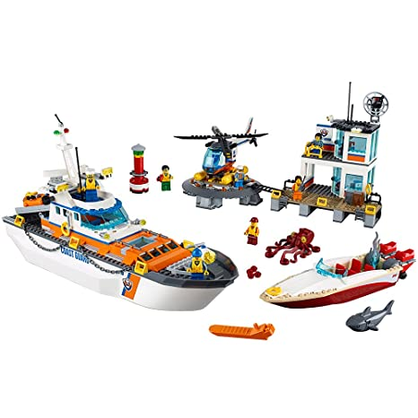LEGO City Coast Guard Coast Guard Head Quarters 60167 Building Kit (792 Piece) Figures at amazon