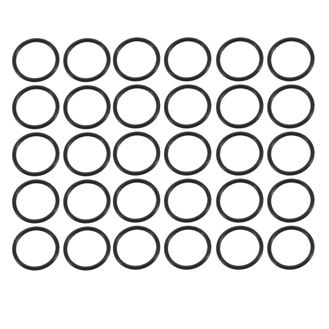 NBR Gummi Dichtungen Ringe Sortiment mit Durchmesser 1-9.5mm Gummiringe de sourcing map 30 St/ück Dichtungsringe Set O Ringe Sortiment