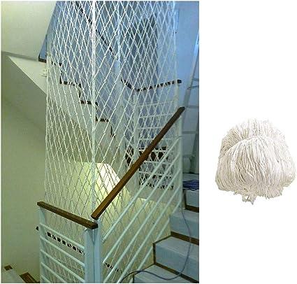 S/écurit/é Escaliers Filet Anti-Chute Nette Nette Piste en Nylon Blanc 5cm Net Maille Cl/ôture De Jardin 3X3FT Color : White, Size : 1X1M Adapt/é /À La Protection des Enfants//Animaux Net