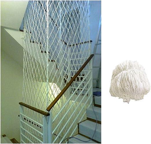 Red De Protección De Escalera, Red De Cuerda De Nylon Blanca ...
