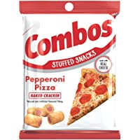 COMBOS Pepperoni Pizza Cracker Baked Snacks 6.3-Ounce Bag (Pack of 12) - SET OF 2