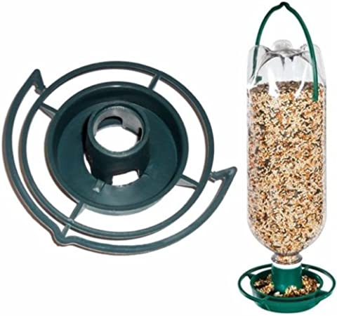 Hanging Bottle Top Bird Feeder Seed Kit Recycled Plastic Drink Bottle Pack of 2