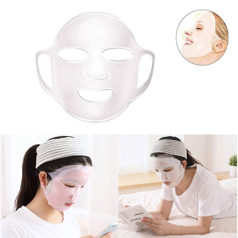 Jinjin 1 PC Face Mask Cover,Reusable Grace Face Mask Cover Holder For Face Mask Steam,Prevents Evaporation (Clear)