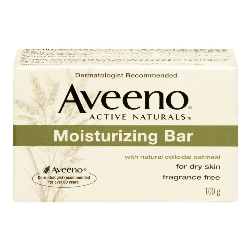 Aveeno Moisturizing Bar with Natural Colloidal Oatmeal for Dry Skin, Fragrance Free, 3.5 Oz (2 Pack)