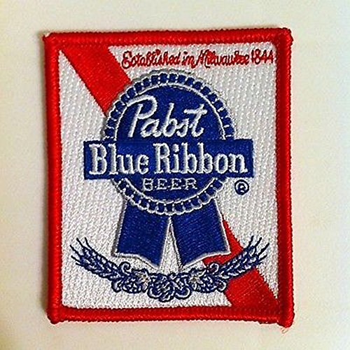 pabst blue ribbon embroidered iron on Beer Patches