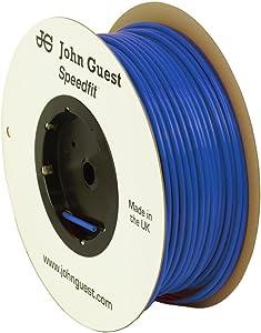 John Guest Food Grade Polyethylene Tubing For Reverse Osmosis systems - 10 Feet (3/8 Inch OD, Blue)