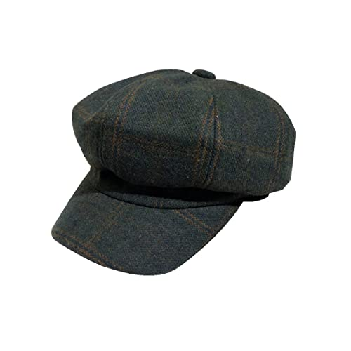 Boinas Otoño E Invierno Señoras Sombrero De Lana Sombrero De Celosía De Inglaterra Gorra Octogonal S...