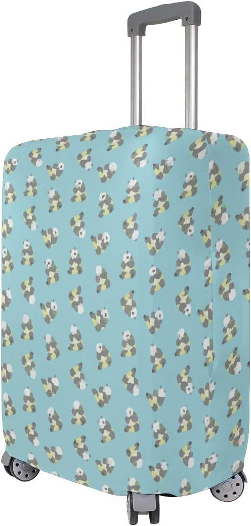 Cute Pandas Eat Bamboo Blue Travel Suitcase Protector Zipper Suitcase Cover Elastic