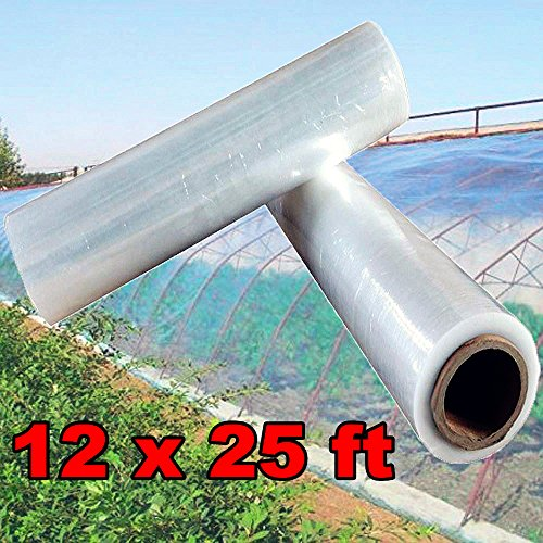 Yaheetech Greenhouse Clear Plastic Cover Film Polyethylene Covering UV Protected Plastic Sheeting