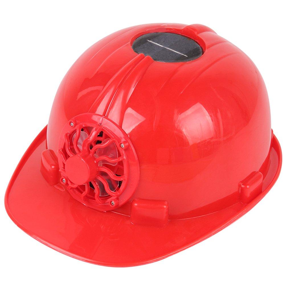 Leoie Solar Fan Helmet Engineering Cap Safe Construction Helmet Durable for Construction Workers, Sanitation Workers