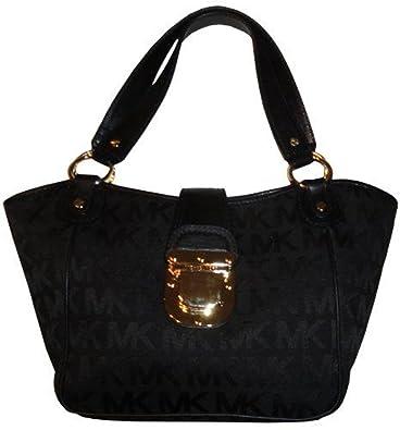 cbade54cdea735 Amazon.com: MICHAEL KORS CHARLTON MK SIGNATURE JACQUARD LARGE TOTE BLACK  #38S1CCNT3Q: Shoes