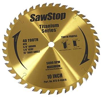 Sawstop Bts R 40atb 40 Tooth Titanium Series Premium Woodworking