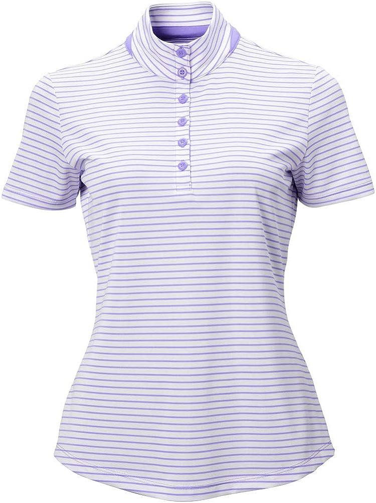 Greg Norman Women's Ml75 Microlux 2below Product Bu Stripe Heathered High material s S