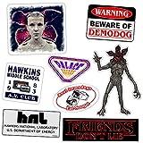 Stranger . Things 8 Pack Vinyl Sticker Decal Set for Car, Laptop, Glass, Etc. | Demodogs, Demogorgon, Hawkins Lab, Eleven, Hawkins Middle School AV Club, Palace Arcade | Sizes up to 6.5''