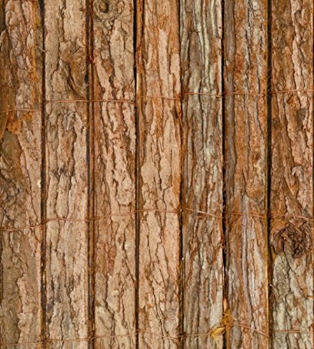 Bark Natural Garden Fence Screening Roll Privacy Border Wind & Sun Protection 4.0m x 1.5m (13ft 1in x 5ft) By Papillon Gardman