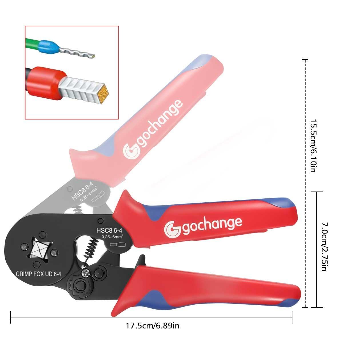 0.25-6.0mm² Selbstjustierende Draht-Ferrule Crimpzange Set, GOCHANGE ...
