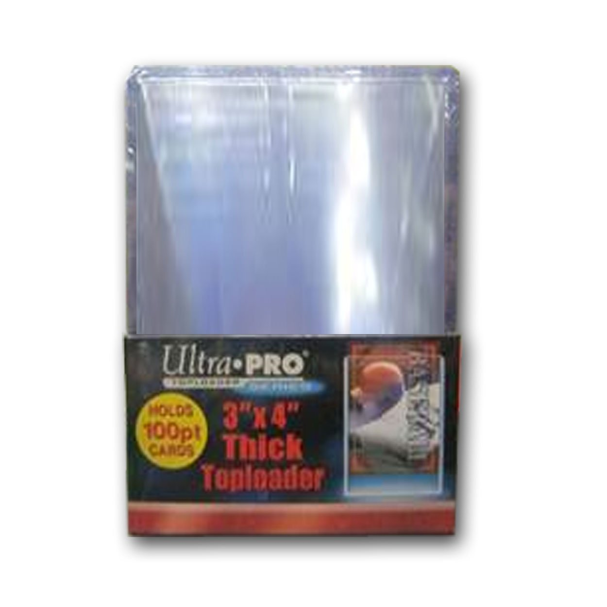 5 PACKS OF 25 3X4 ULTRA PRO SUPER THICK 100pt CARD TOPLOADERS