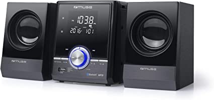 Muse 38 Bt Cd Mp3 Micro System With Usb Bluetooth Equalizer Remote Control Black Chrome Küche Haushalt