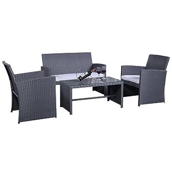 Amazonde Rattanmöbel Set Gartenmöbel Rattan Lounge Polyrattan