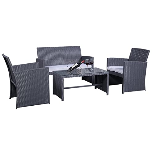 Amazon.De: Rattanmöbel Set Gartenmöbel Rattan Lounge Polyrattan