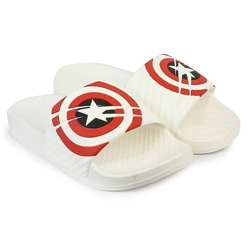 5a49dcf5f Attrix Men Step Care Flip Flop Captain America Printed House Slipper ...