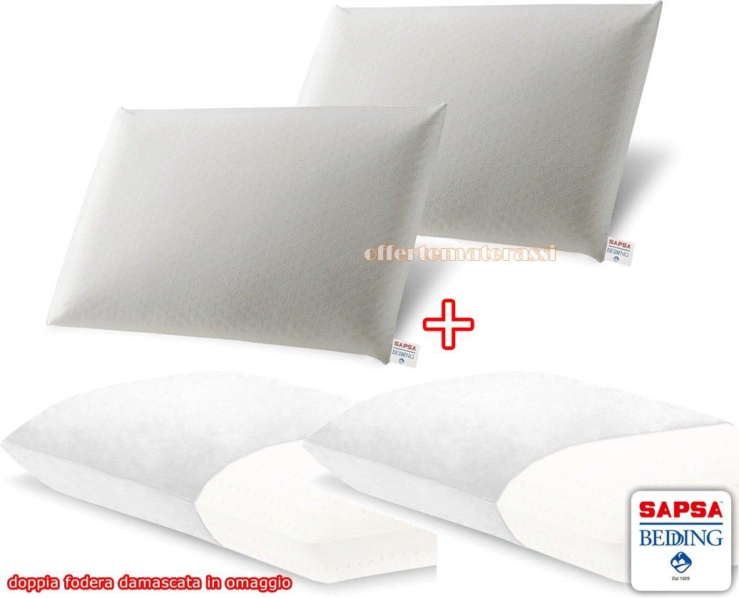 Sapsa Bedding Classic saponetta lattice 100% cuscino/guanciale ALTA ...