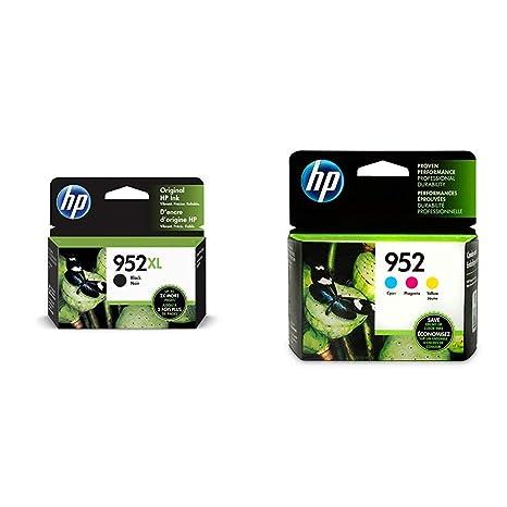 Amazon.com: HP 952XL Cartucho de tinta negra (F6U19AN) y 952 ...