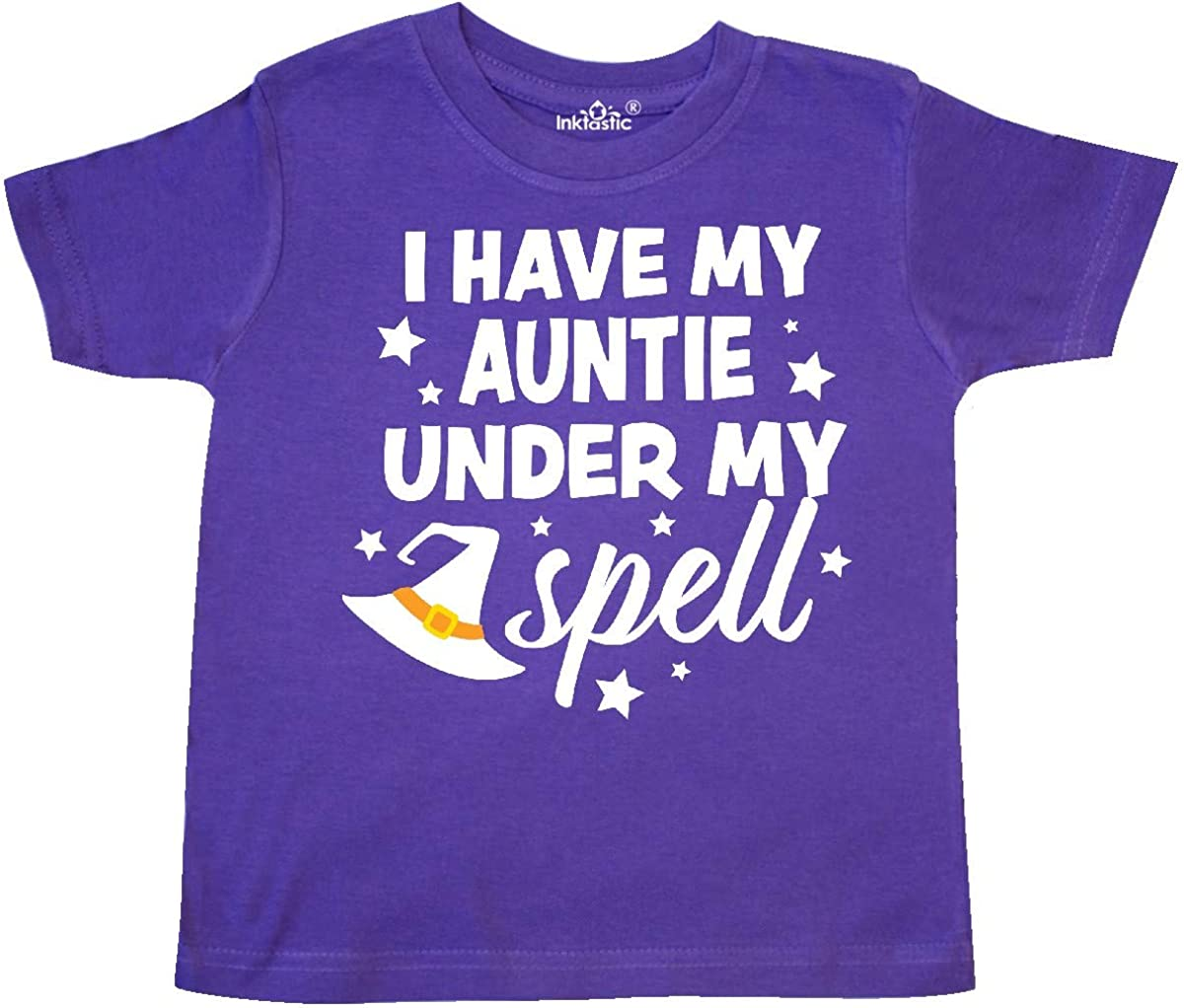 inktastic I Have My Auntie Under My Spell with Cute Witch Hat Toddler T-Shirt