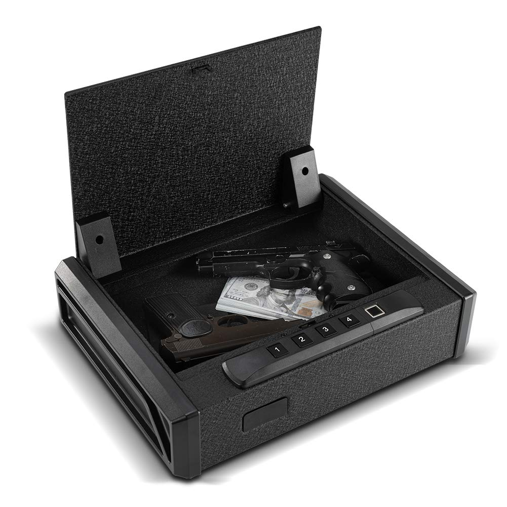RPNB Gun Security Safe, Quick-Access Firearm Safety Device with Biometric Fingerprint or RFID Lock, Home & Personal Safe Series by RPNB