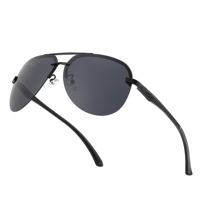 Amazon.com: cgid ga43 Premium Al-Mg aleación Aviator – Gafas ...