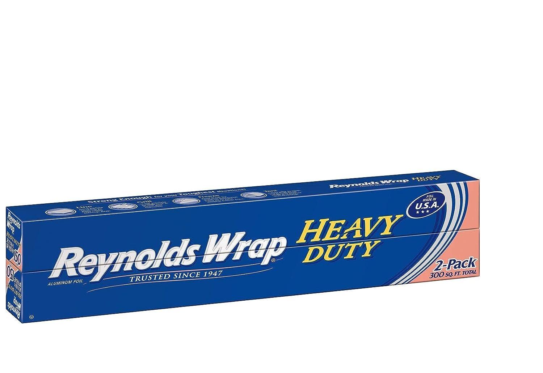 "Reynolds Wrap 18"" Heavy Duty Aluminum Foil, 150 sq. ft (2 ct.) - (Original from manufacturer - Bulk Discount available)"
