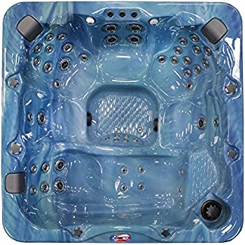 American Spas AM-756LP 6-Person 56-Jet Lounger Spa with Bluetooth Stereo System, Pacific Rim and Mist