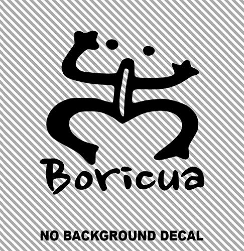 MANY SIZES and COLORS Boricua Puerto Rico Coqui Symbol Sign Taino Frog Logo Car Truck Suv Rear Window Glass Decal Sticker Laptop V1