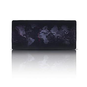 Alfombrilla de Ratón para Gaming , EETCK Mousepad Mapa del Mundo Tamaño Grande XXL 35.43x15