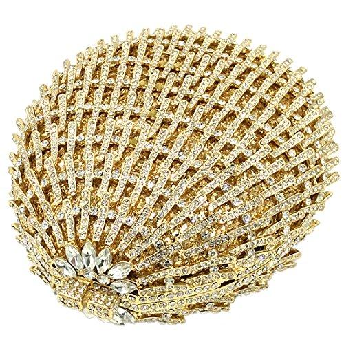 Bourse La Clutch Maquillage Sac À Bal Fête Bandouliere Pour Mariage Bombe Gold Grenade Soirée Femme Pochette Main Chaîne UZFqU7