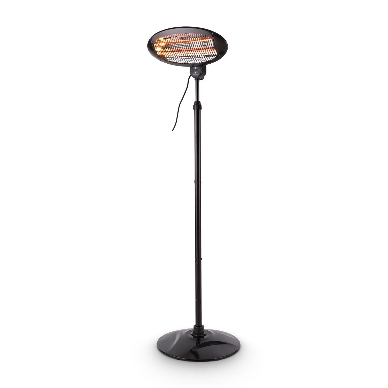 ... radiador infrarrojo • 2 tubos calefactores de cuarzo • 1300 W • 3 funciones: lámpara, calefactor o lámpara con calefactor • negro: Amazon.es: Hogar