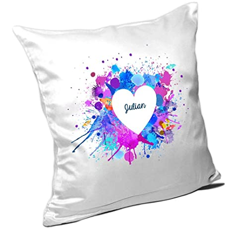 Cojín con nombres Julian y motivos Diseño para San Valentín ...