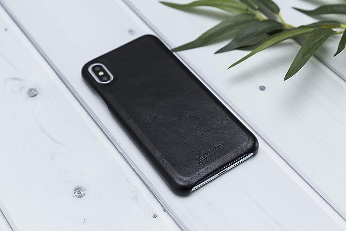 new product 1d56c 13f25 Amazon.com: BEMFEY Handmade Genuine Black Leather iPhone xs max case ...