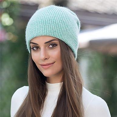 f0e13858944307 Women Winter Cap Rabbit Fur Beanie Skullies Warm Fashion Gravity Hat Simple  Children Female