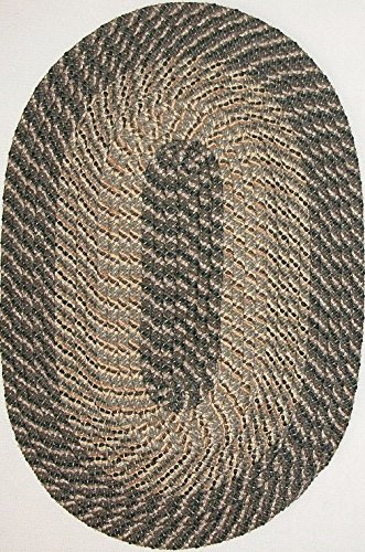 Plymouth 7' ROUND Braided Rug in Ponderosa Pine (Medium/Dark Olive Tones)