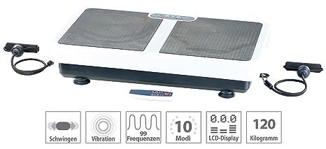 PEARL Rüttelplatte: Extrabreite Vibrationsplatte WBV-199.OE mit Expandern, 200 Watt (Rüttler)