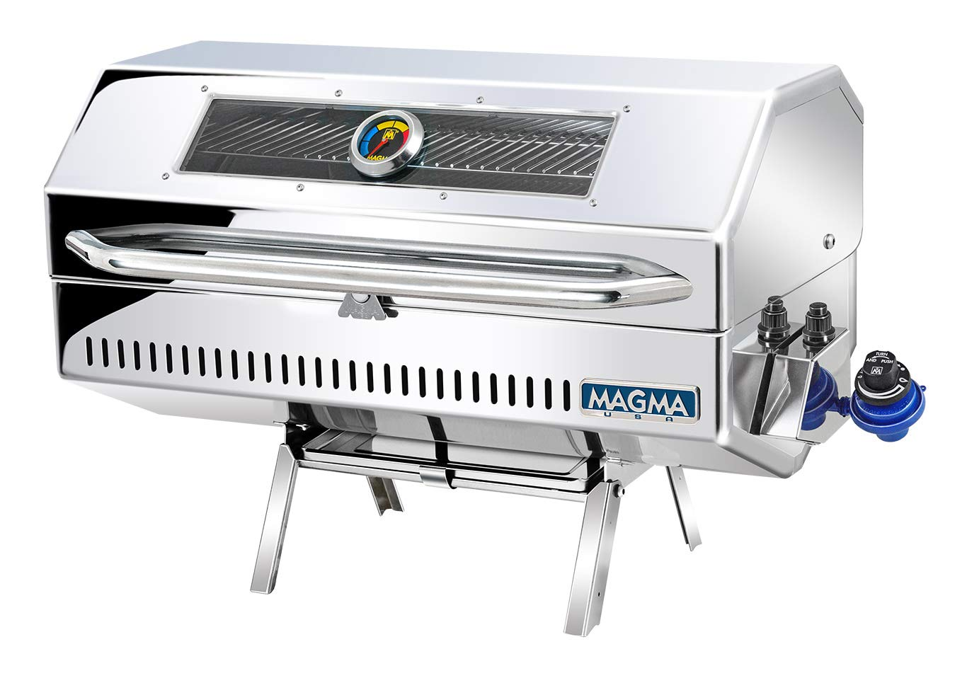 Magma Products, A10-1225-2GS Monterey 2 Infra Red Gourmet Series Gas Grill, Polished Stainless Steel by Magma