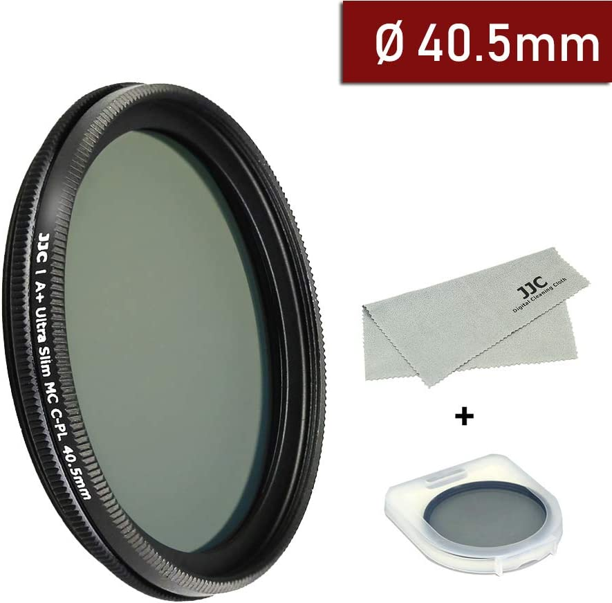 40.5mm Circular Polarizers Filter Ultra Slim 12 Layers Multi Coated CPL Filter for Sony E PZ 16-50mm f//3.5-5.6 OSS(SELP1650) Camera Lenses Includes Carry Case