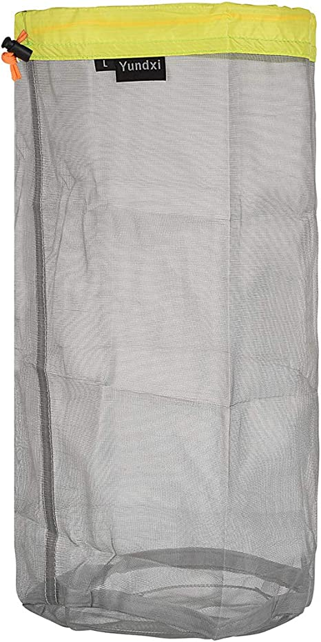 Tavel Camping Sports Ultralight Mesh Stuff Sack Drawstring Storage Bag \CA