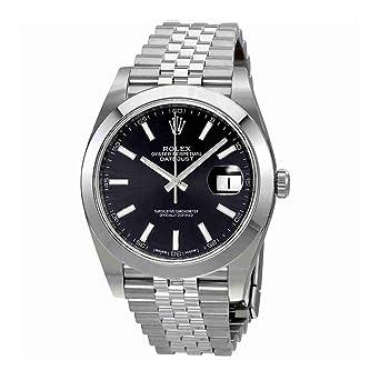 Rolex Datejust Cadran noir automatique montre de jubilé pour homme ...