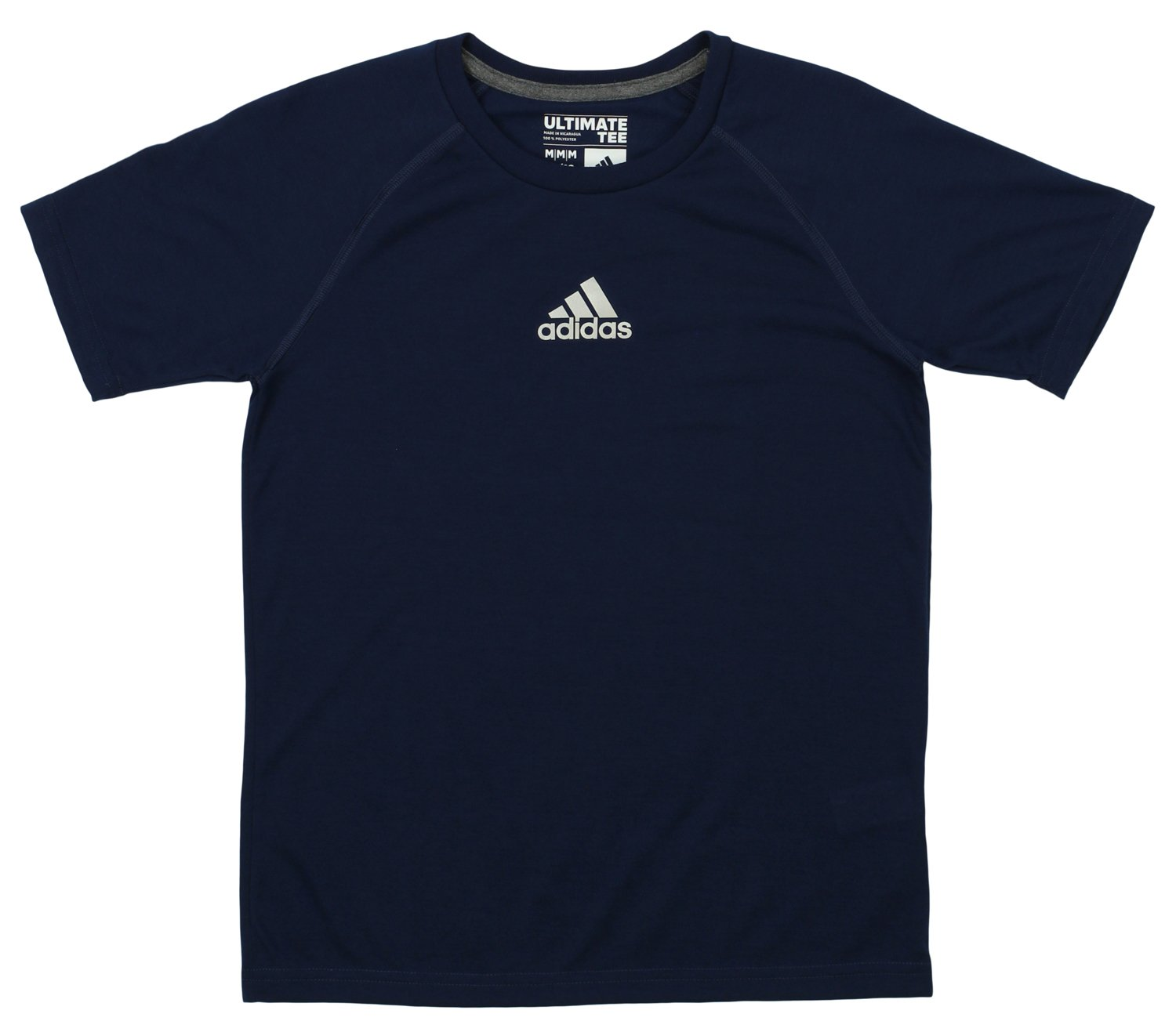 adidas Youth Boys Climalite Short Sleeve Performance Tee Collegiate Navy