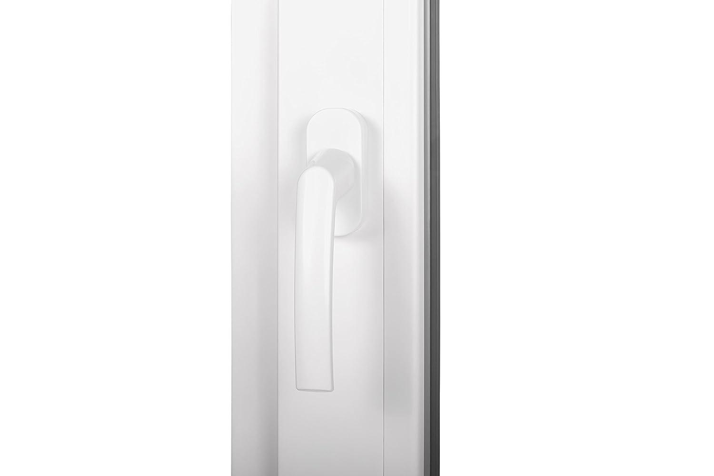 Dreh Kipp innen wei/ß Premium BxH70x60cmDIN links au/ßen Anthrazit wei/ß Kellerfenster PVC Fenster 2 Fach