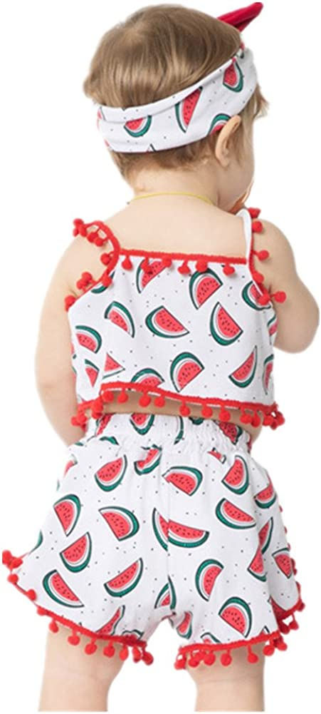 Beide Baby Girls Watermelon Outfits Summer Cotton Clothing Set