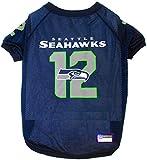 "Pets First NFL Seattle Seahawks ""12th Man"" Raglan Pet Jersey, XX-Large"