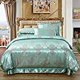 Modern fashion Bedding Set European style Tribute satin Jacquard 4 sets bed linings Cotton Tencel Bed sheets quilt